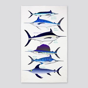 6 Billfish 3'x5' Area Rug